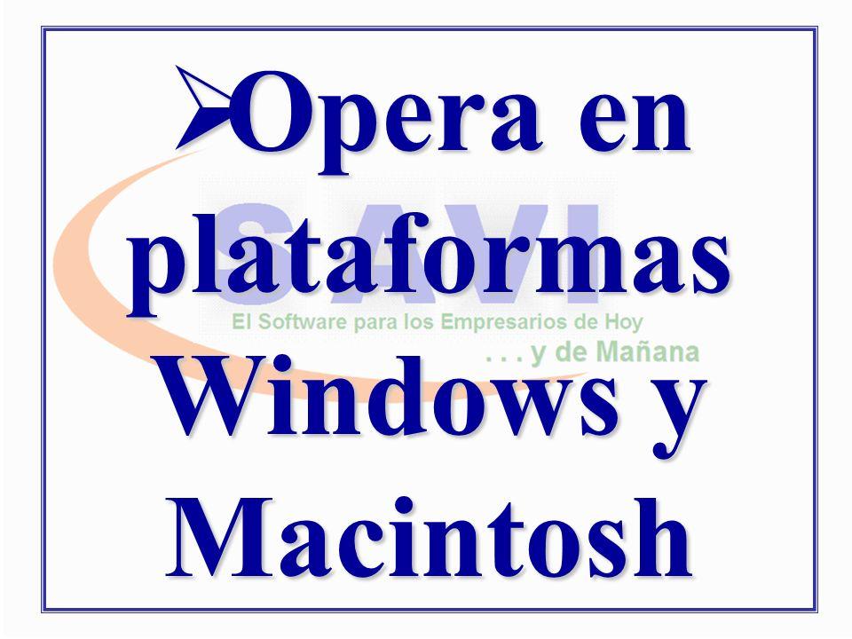 Opera en plataformas Windows y Macintosh