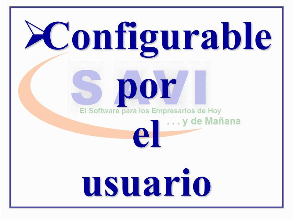 Configurable por el usuario