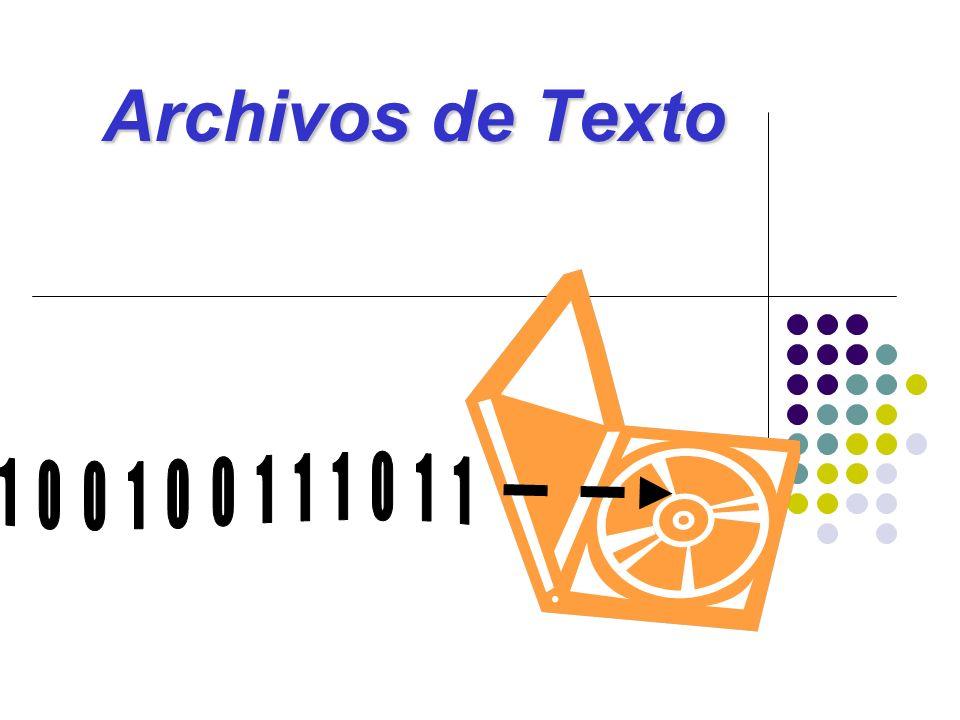 Introducción Los archivos son una secuencia de bits que se guarda en el disco duro.