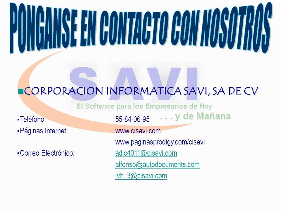 FACTURACION CONTROL DE INVENTARIOS MERCANCIAS NACIONALES Y DE IMPORTACION (fracción arancelaria, aduana, pedimentos) MULTIALMACENES CUENTAS POR COBRAR PRECIOS ESPECIALES X CLIENTE COMPRA VENTA, MULTIMONEDAS COTIZACIONES, PEDIDOS, CONSIGNACIONES ORDEN DE COMPRA (ligada a cxp) VENDEDORES, COMISIONES E INCENTIVOS REPORTES ESTADISTICOS CONSULTAS HISTORICAS DE INVENTARIOS Y CLIENTES .