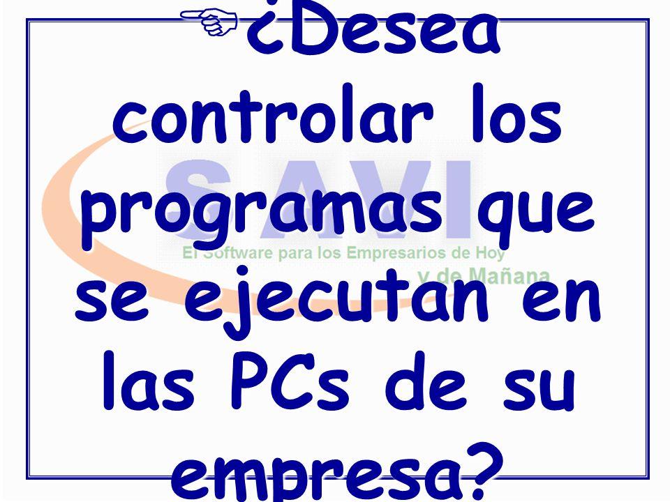¿Desea controlar los programas que se ejecutan en las PCs de su empresa?