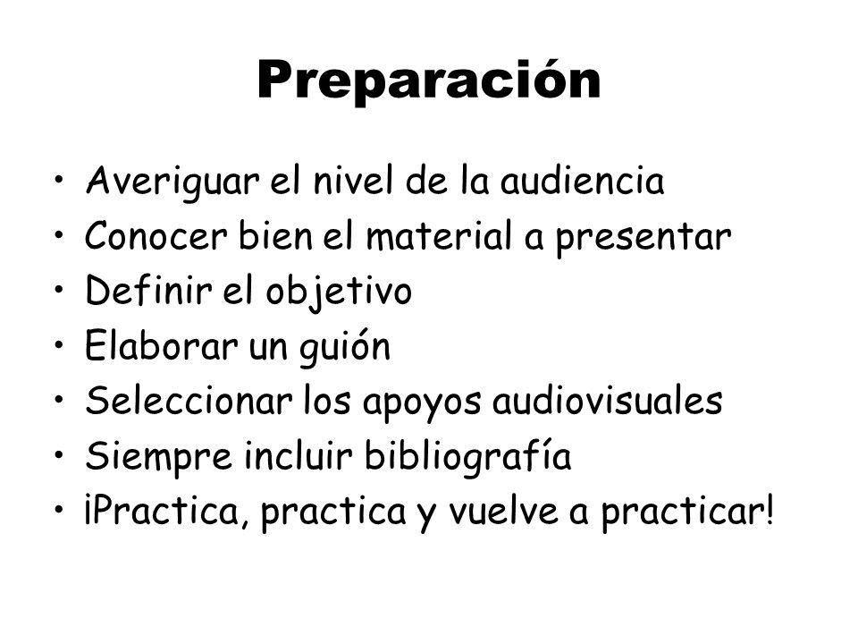 Desarrollo Preparación Presentación ¿Preguntas? ¡Emergencias! El archivo electrónico