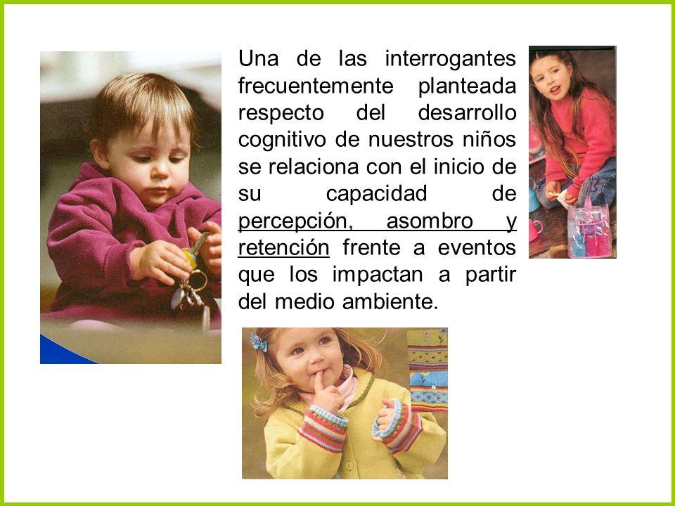 Una de las interrogantes frecuentemente planteada respecto del desarrollo cognitivo de nuestros niños se relaciona con el inicio de su capacidad de pe