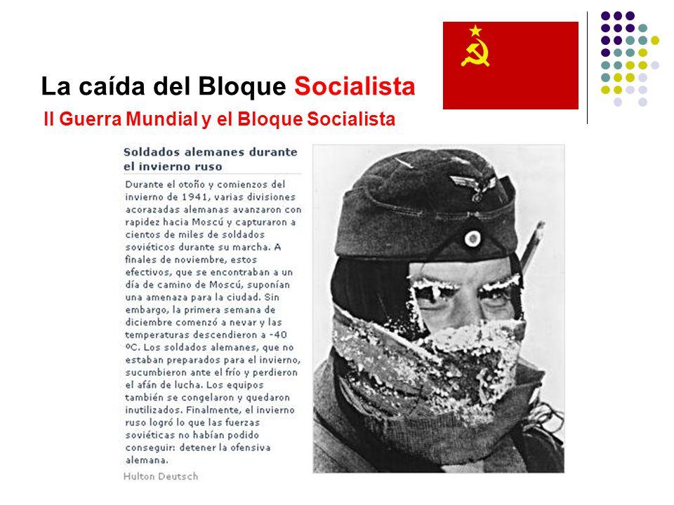 La caída del Bloque Socialista II Guerra Mundial y el Bloque Socialista
