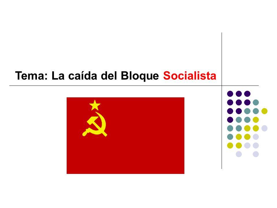 La caída del Bloque Socialista ¿Qué es el socialismo.