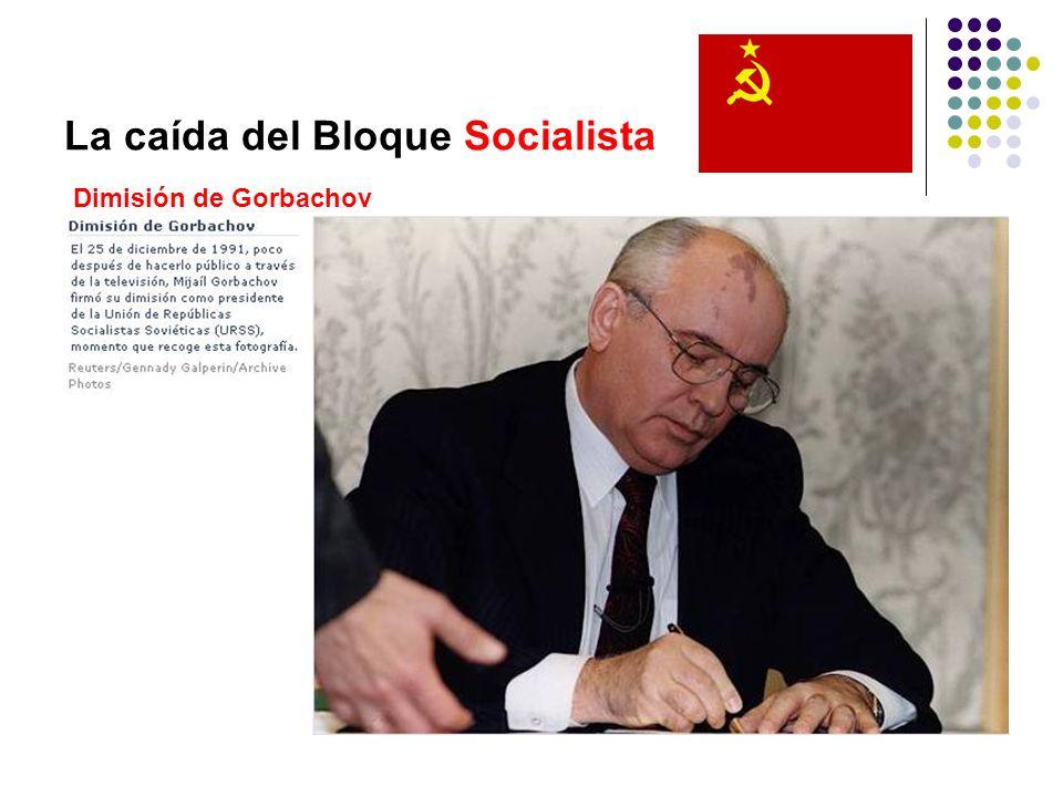 La caída del Bloque Socialista Dimisión de Gorbachov