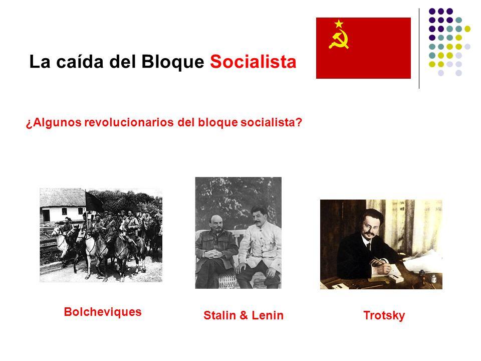 La caída del Bloque Socialista ¿Algunos revolucionarios del bloque socialista? Bolcheviques Stalin & Lenin Trotsky