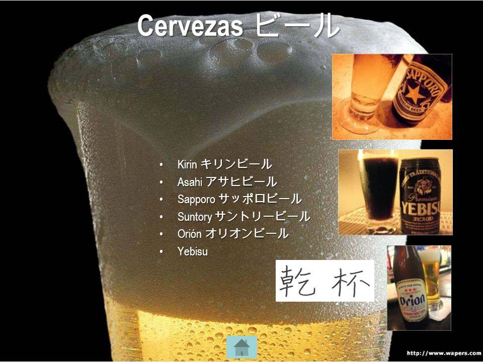 KirinKirin AsahiAsahi SapporoSapporo SuntorySuntory OriónOrión YebisuYebisu Cervezas