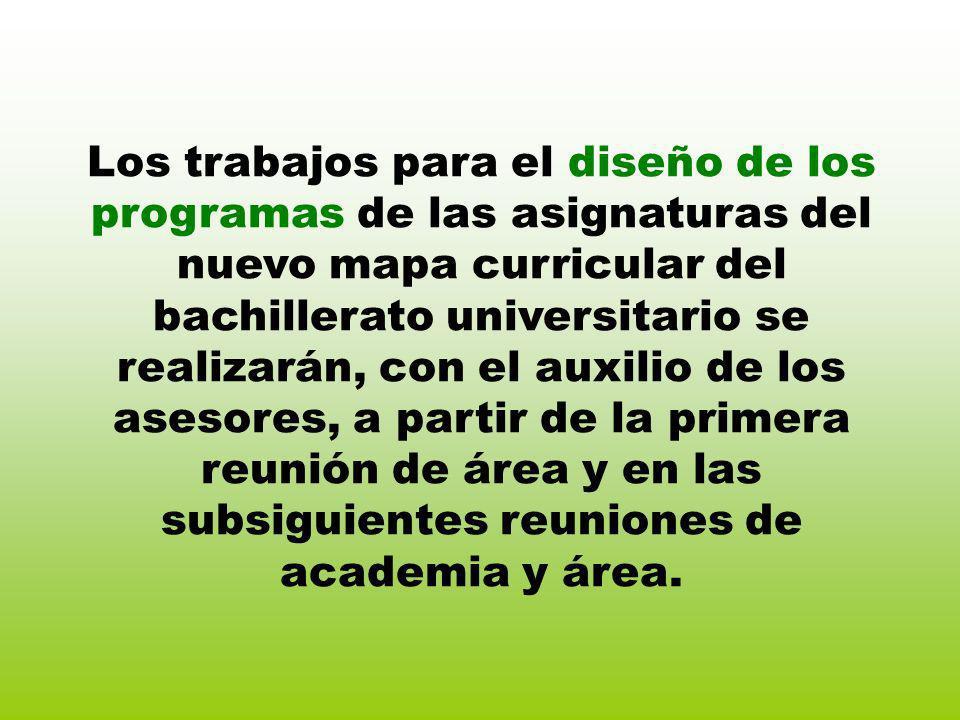 Los trabajos para el diseño de los programas de las asignaturas del nuevo mapa curricular del bachillerato universitario se realizarán, con el auxilio