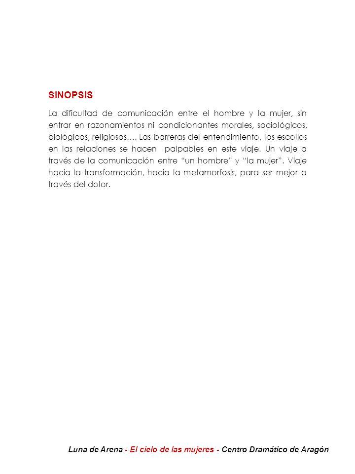 EL CIELO DE LAS MUJERES Un deseo A raíz del estreno en castellano de Antihéroes en la Feria de Arte Contemporáneo de Madrid ARCO-03, ¡dos años después de ser estrenada en alemán!, dirigida por Félix Martín y realizada por su compañía Luna de Arena, director y autor mantienen una estrecha amistad.