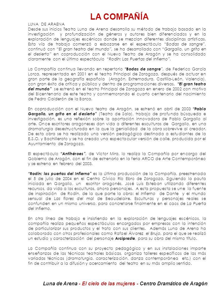 Mujer 1:Rosa Lasierra Participación en montajes teatrales: 1988- El médico a palos de Moliére.