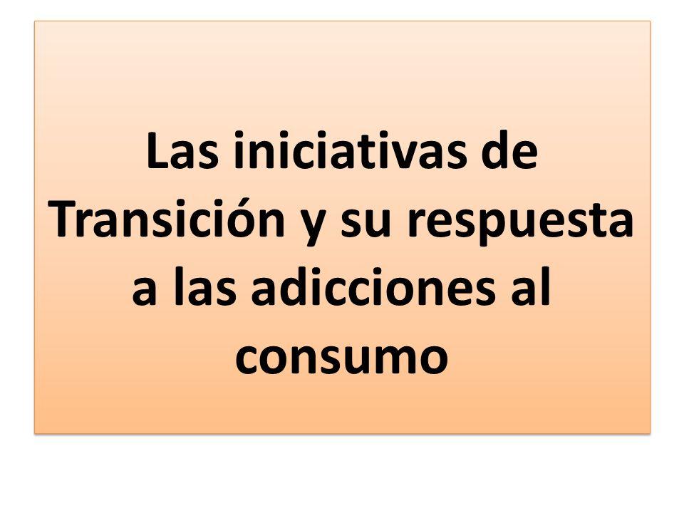 Las iniciativas de Transición y su respuesta a las adicciones al consumo