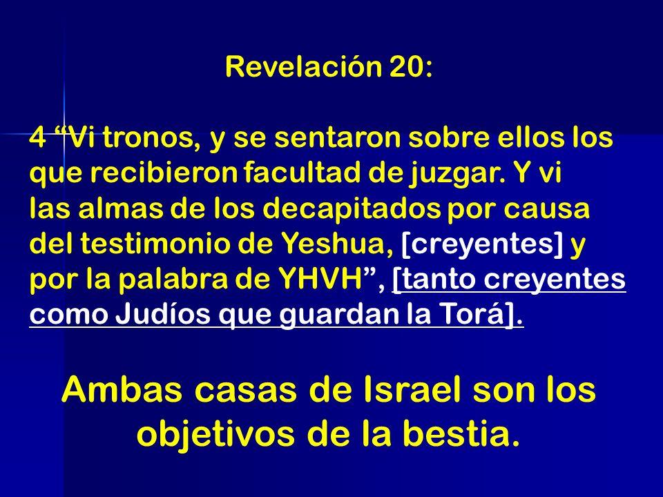 Revelación 20: 4 Vi tronos, y se sentaron sobre ellos los que recibieron facultad de juzgar. Y vi las almas de los decapitados por causa del testimoni