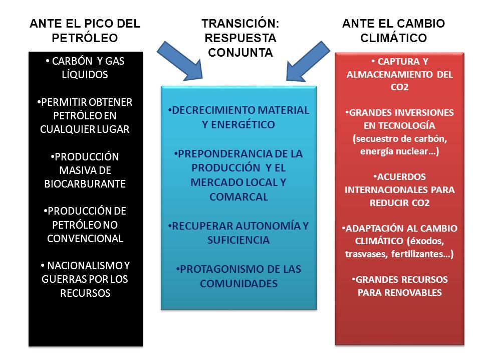 CARBÓN Y GAS LÍQUIDOS PERMITIR OBTENER PETRÓLEO EN CUALQUIER LUGAR PRODUCCIÓN MASIVA DE BIOCARBURANTE PRODUCCIÓN DE PETRÓLEO NO CONVENCIONAL NACIONALI