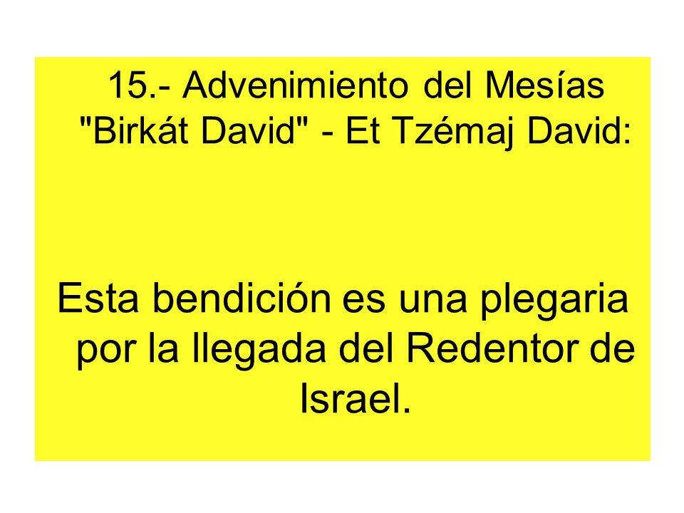 15.- Advenimiento del Mesías