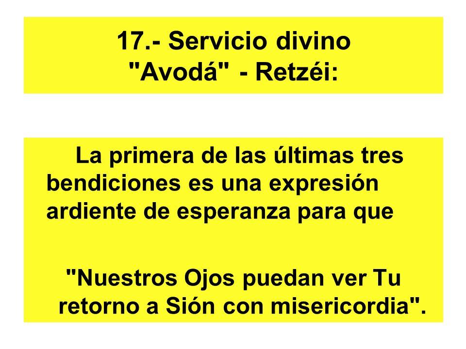 17.- Servicio divino