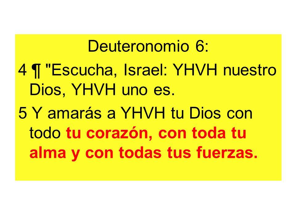Deuteronomio 6: 4 ¶ Escucha, Israel: YHVH nuestro Dios, YHVH uno es.