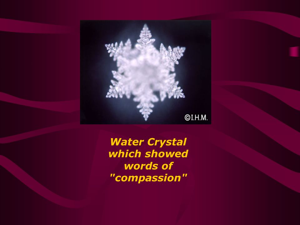Water Crystal which showed words of