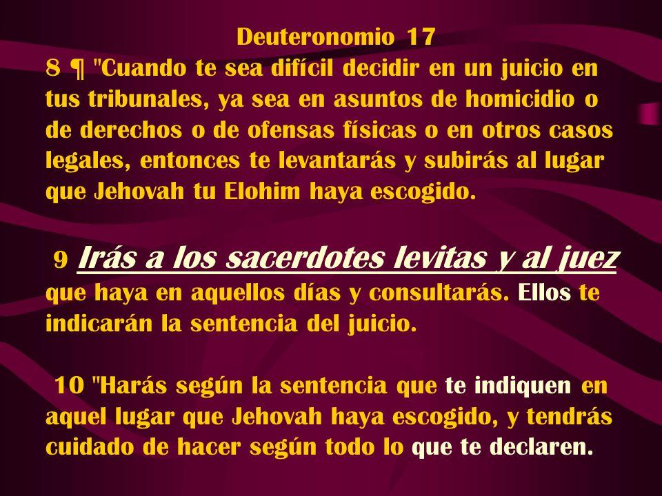 Deuteronomio 17 8 ¶
