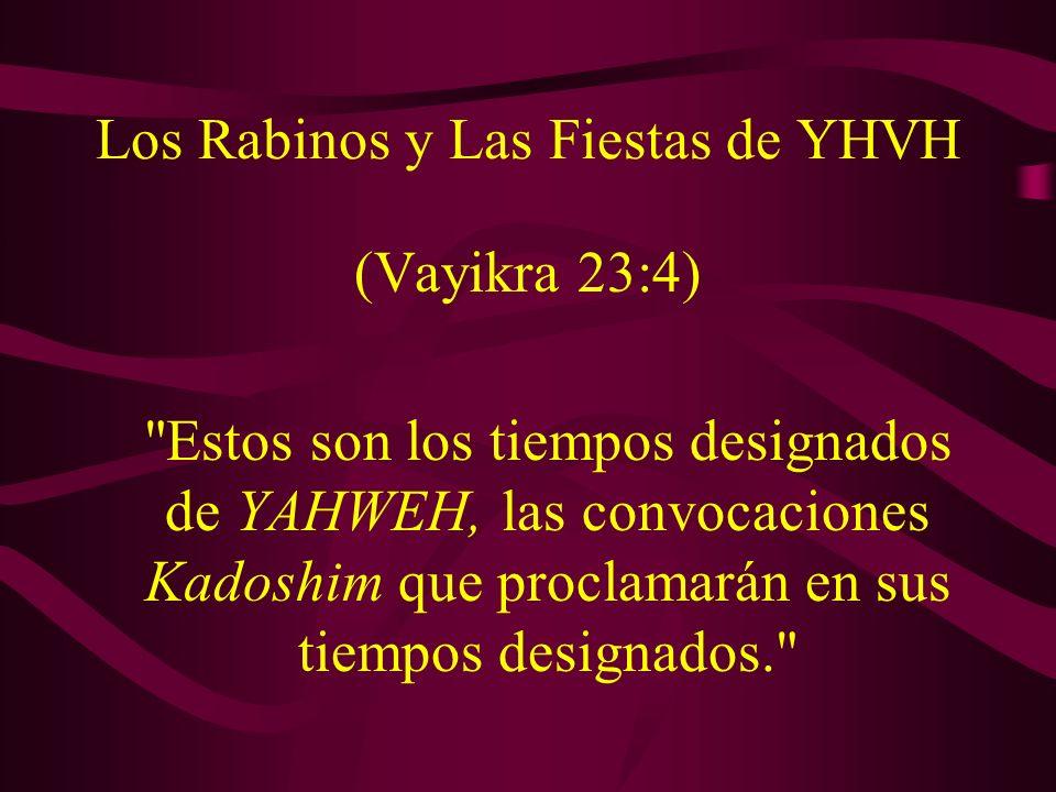 Los Rabinos y Las Fiestas de YHVH (Vayikra 23:4)