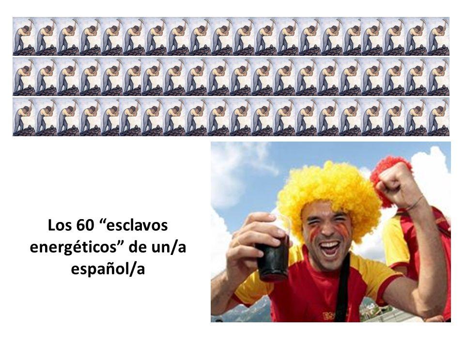 Los 60 esclavos energéticos de un/a español/a