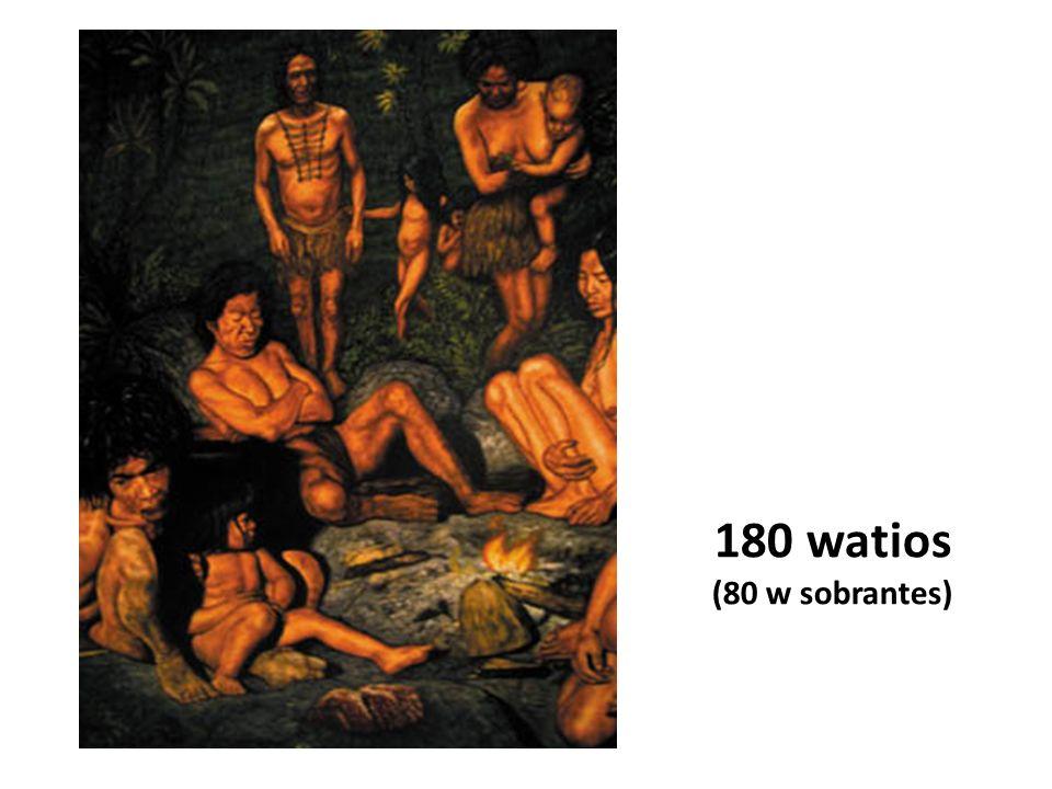 180 watios (80 w sobrantes)