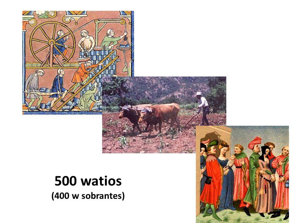 500 watios (400 w sobrantes)