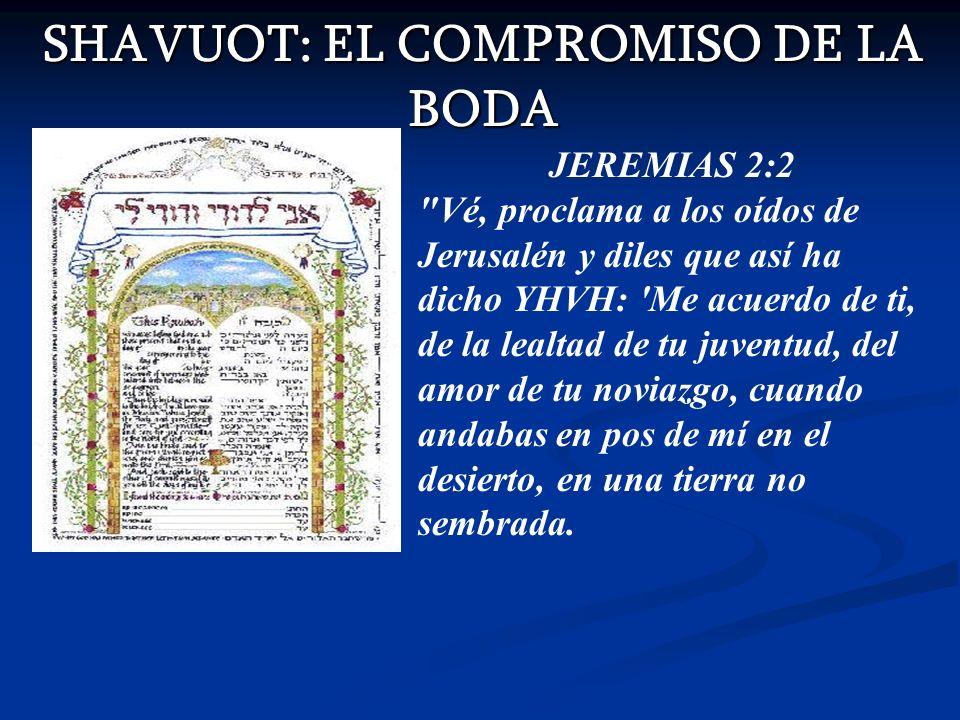 SHAVUOT: EL COMPROMISO DE LA BODA JEREMIAS 2:2