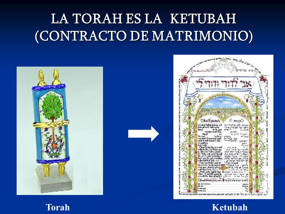 LA TORAH ES LA KETUBAH (CONTRACTO DE MATRIMONIO) TorahKetubah