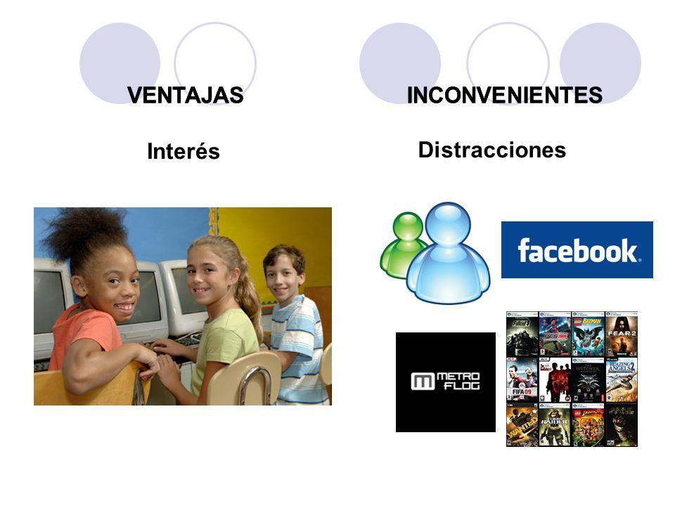 Interés Distracciones VENTAJASINCONVENIENTESVENTAJASINCONVENIENTES