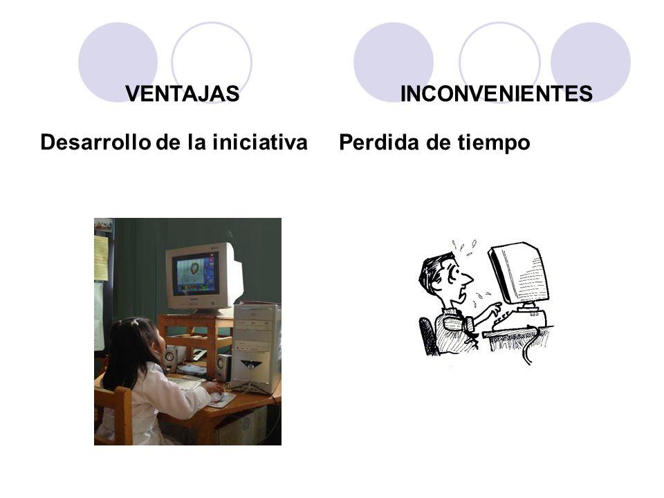 Desarrollo de la iniciativa Perdida de tiempo VENTAJASINCONVENIENTES