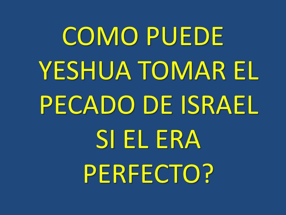 COMO PUEDE YESHUA TOMAR EL PECADO DE ISRAEL SI EL ERA PERFECTO?