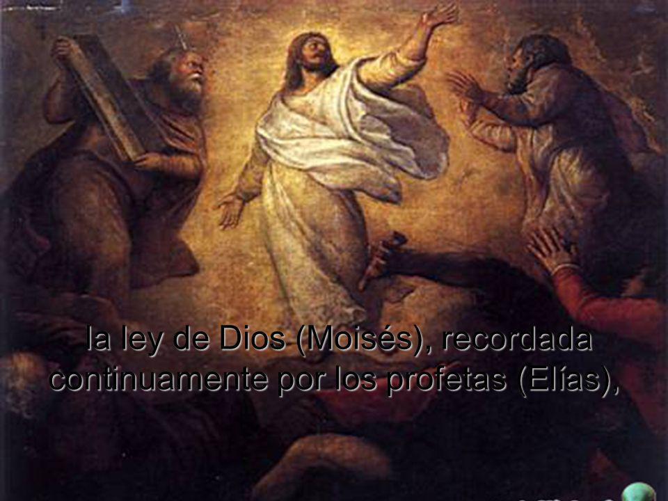 Moisés y Elías, que ayunaron 40 días y subieron a la montaña, están junto a Jesús en el monte Tabor, son la síntesis apretada de la historia de la sal