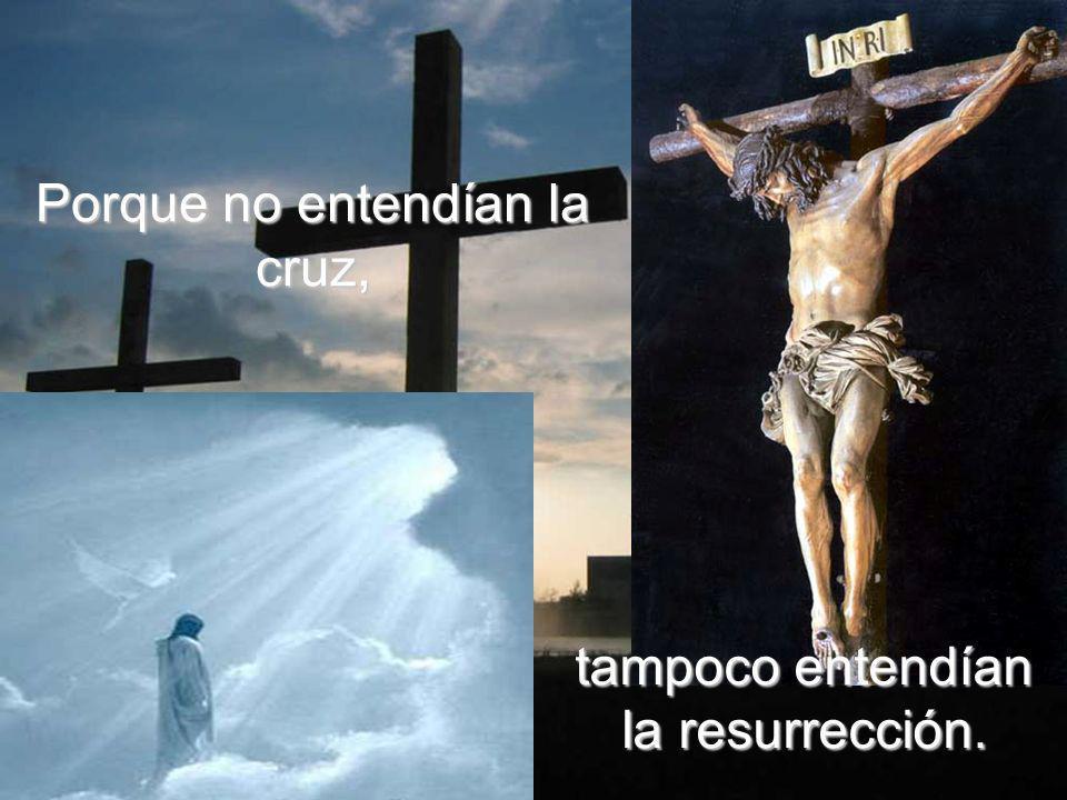 La gloria resucitada, de la que esta escena de la transfiguración era sólo un fugaz adelanto, sólo se entiende y se vive desde la cruz, después de la