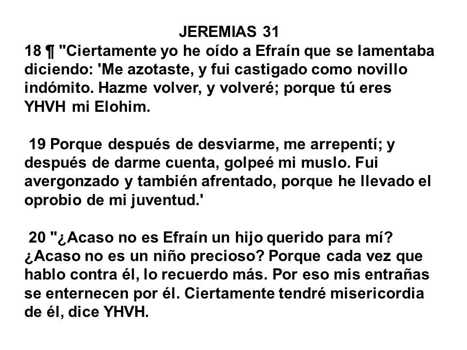 JEREMIAS 31 18 ¶
