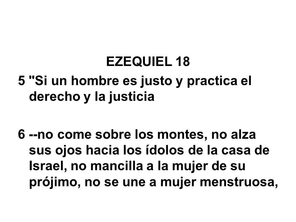 EZEQUIEL 18 5