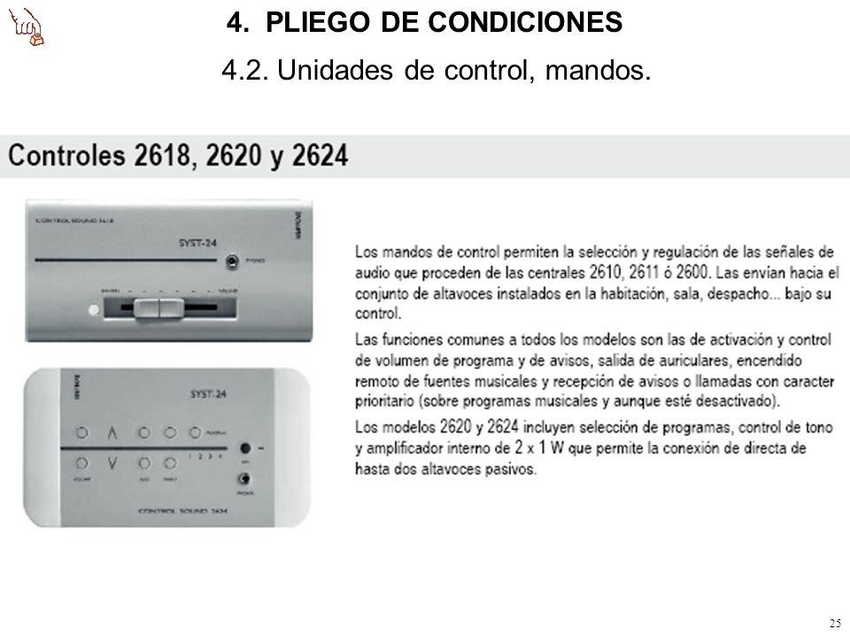 24 4. PLIEGO DE CONDICIONES 4.1. Central de sonido