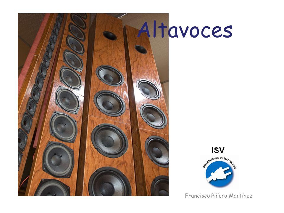 Distorsión Se expresa en tantos por ciento La distorsión aumenta a medida que aumenta la potencia aplicada por el amplificador.