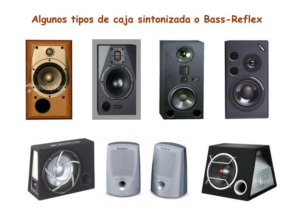 Algunos tipos de caja sintonizada o Bass-Reflex