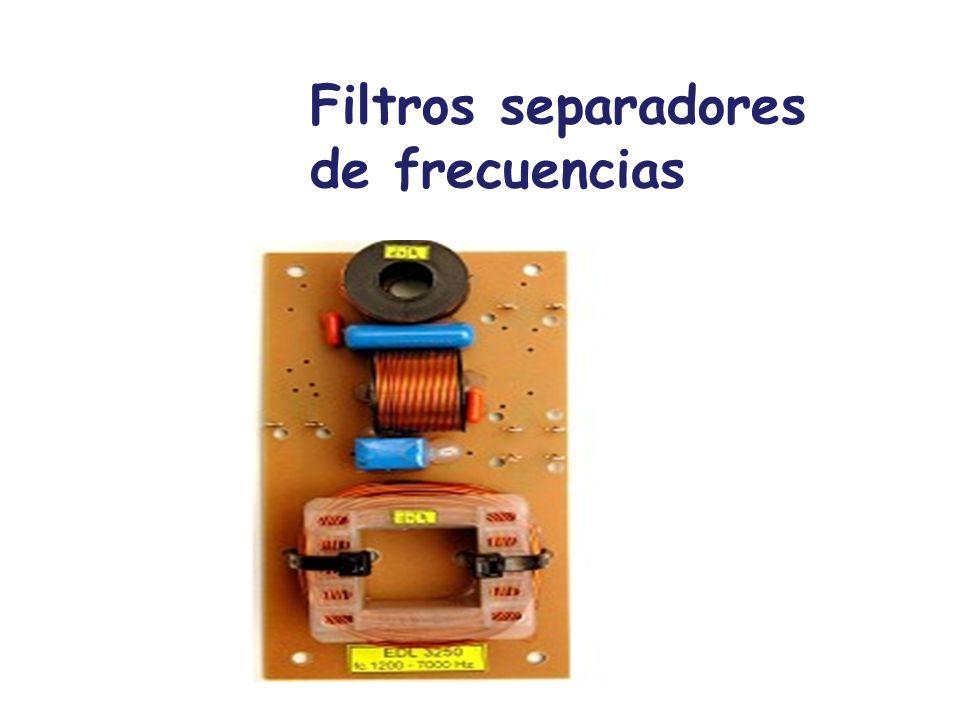 Filtros separadores de frecuencias