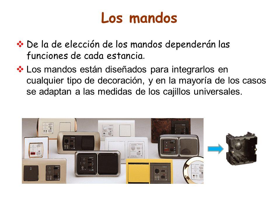 Los mandos De la de elección de los mandos dependerán las funciones de cada estancia. Los mandos están diseñados para integrarlos en cualquier tipo de