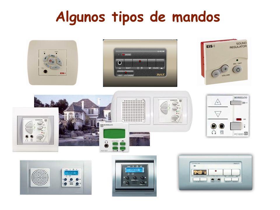 Algunos tipos de mandos