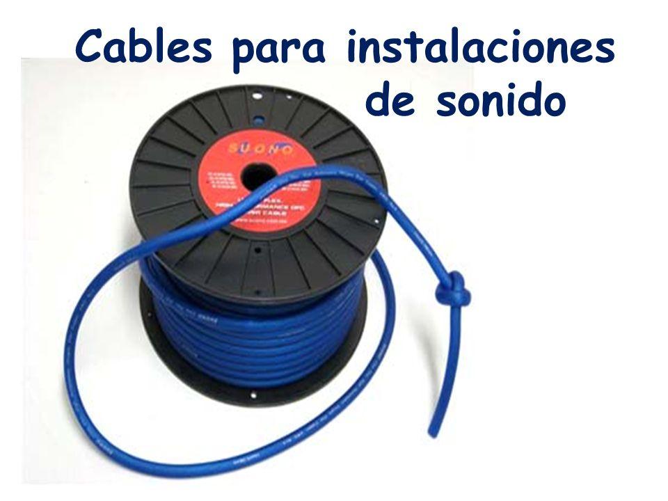 Cables para instalaciones de sonido