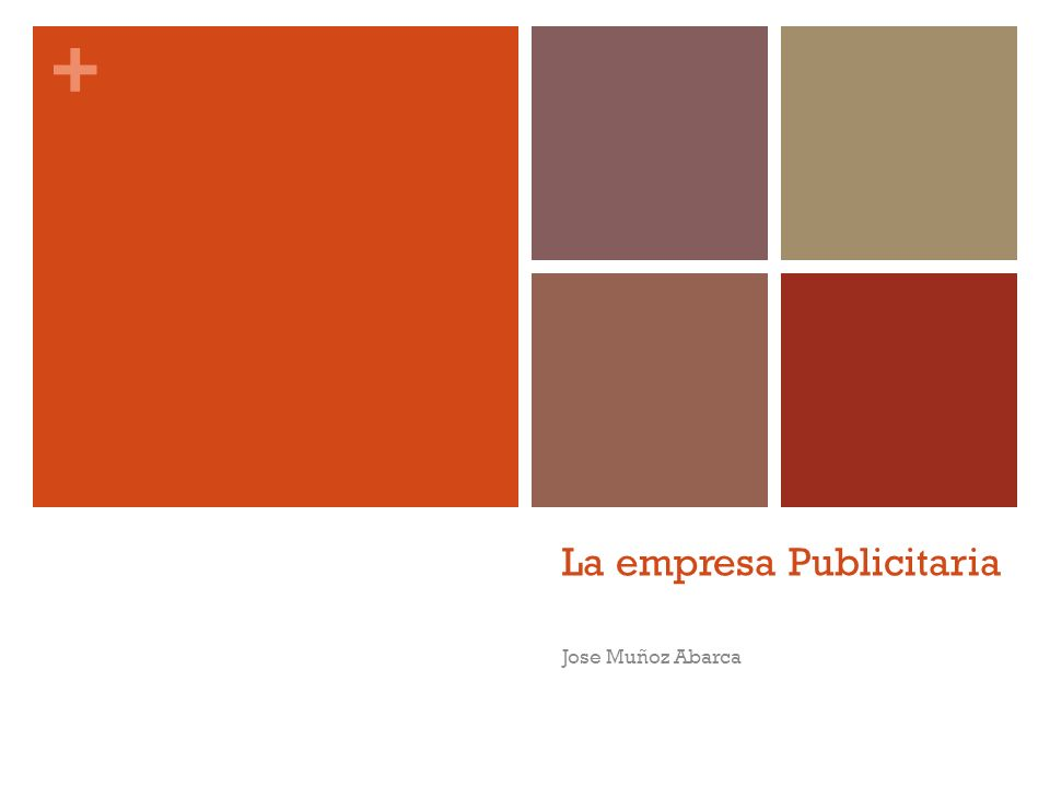 + La empresa Publicitaria Jose Muñoz Abarca