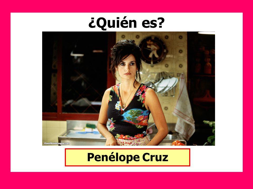 ¿Quién es? Penélope Cruz