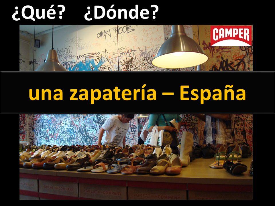 ¿Qué?¿Dónde? una zapatería – España
