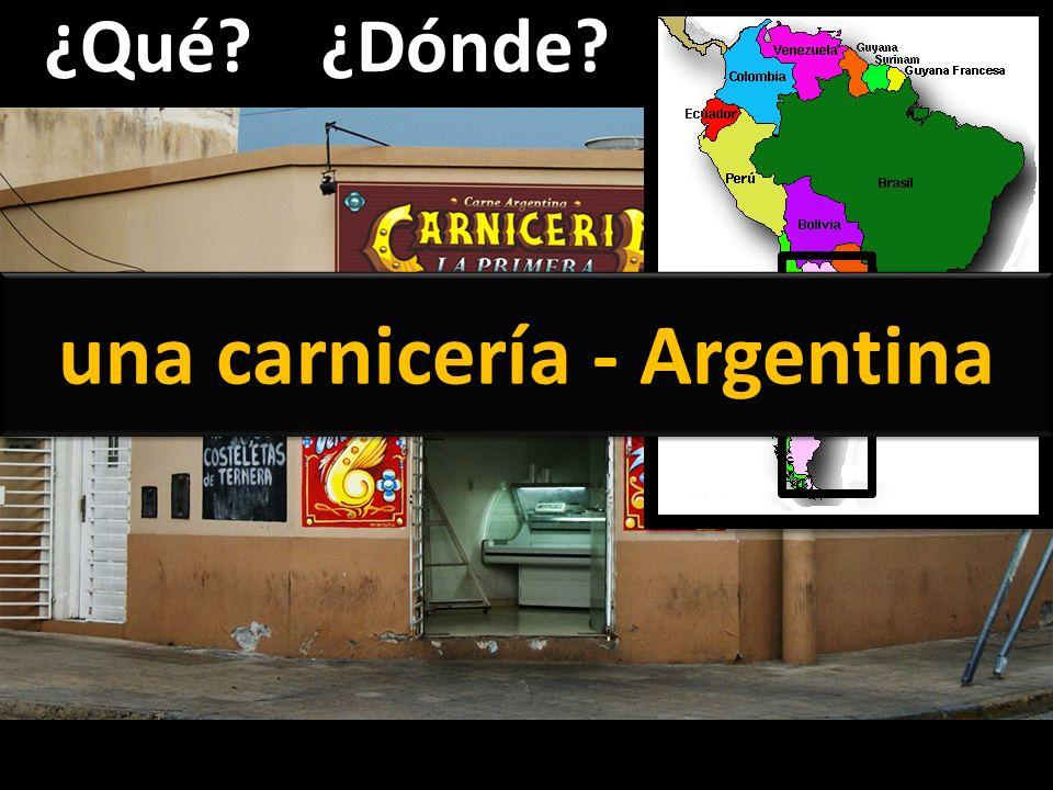 ¿Qué?¿Dónde? una carnicería - Argentina