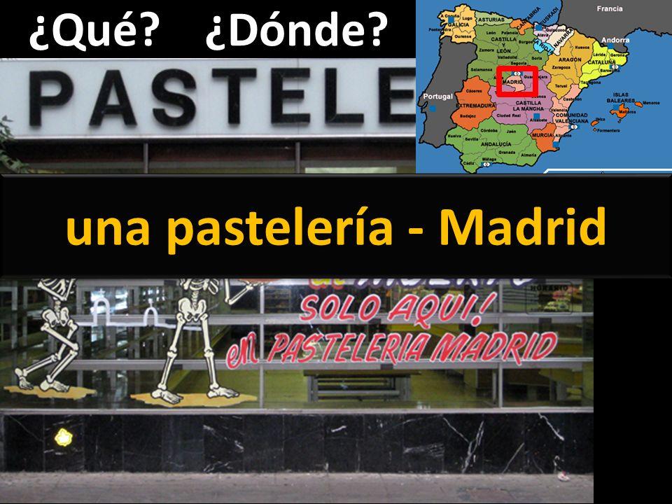 ¿Qué?¿Dónde? una pastelería - Madrid