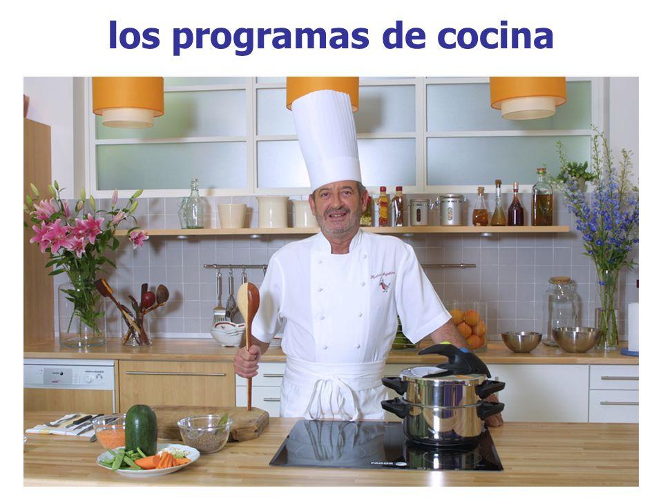 los programas de cocina