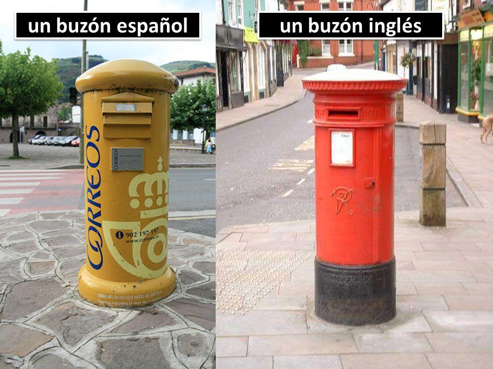 un buzón español un buzón inglés